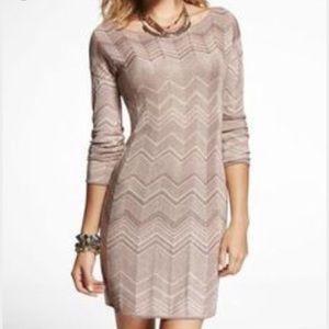 Express Zig Zag Sweater Dress